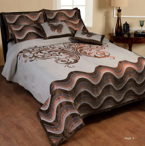 Dreaming Buttefly Reversible Cotton Bedsheet - Dark Brown