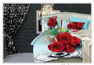 Roses & Ripples of Beauty Cotton Bedsheet