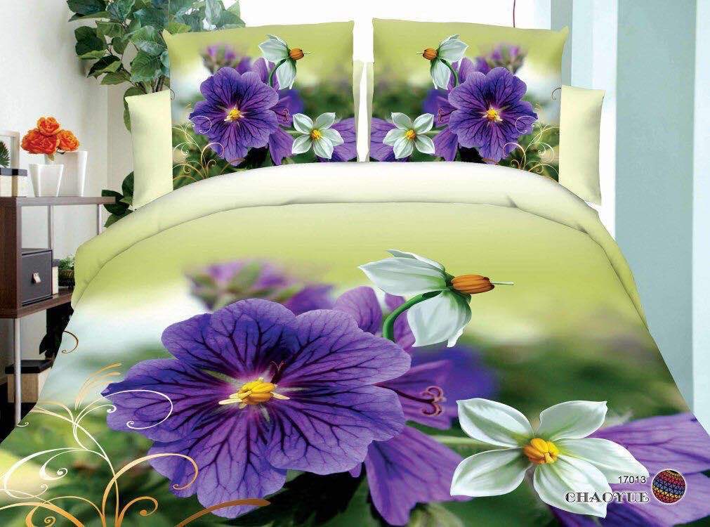 Flowers Unraveling Beauty Glace Cotton Bedsheet