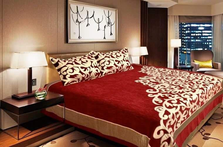 Work of Art Royal Heavy Chenille Bedcovers- Maroon