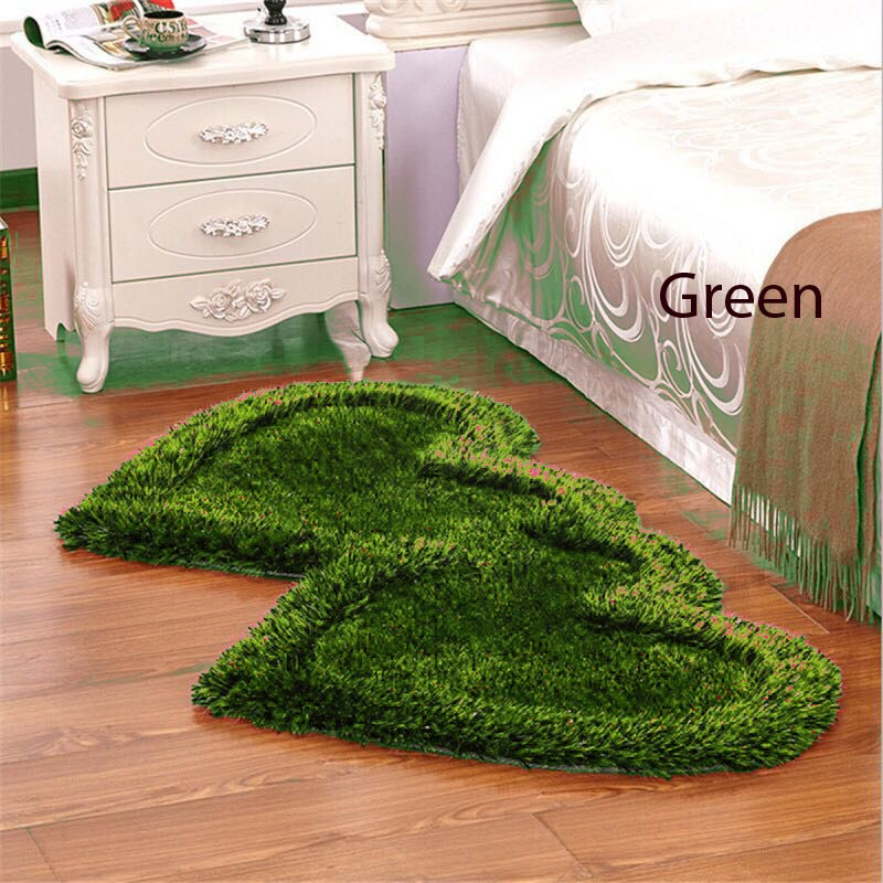 Twin Heart Bedside Runners - Green Color