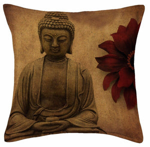 Lord Budha Jute Cushion Covers - 5 piece/set