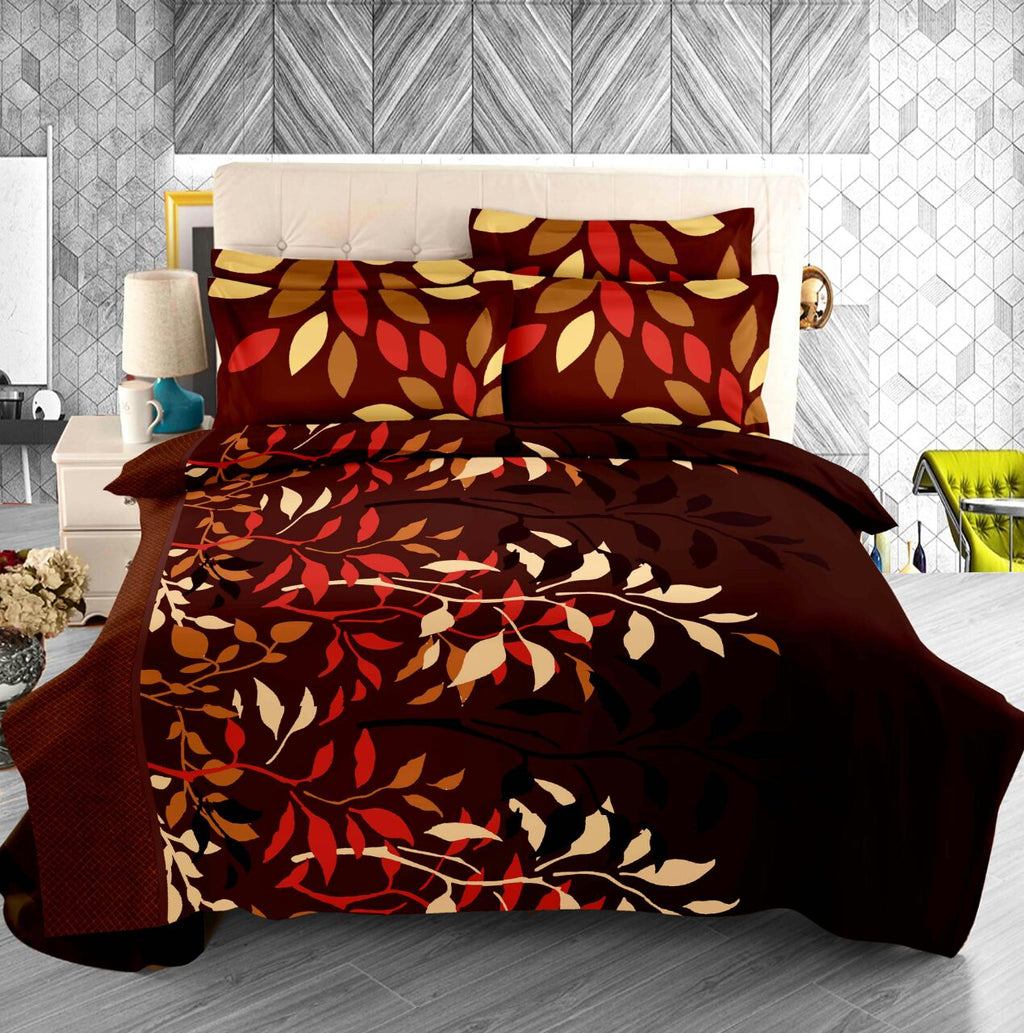Licious Leaves - 100% Pure Cotton Bedsheet