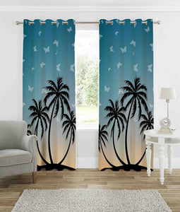 Digital Heavy Long Crush Curtains - The Palm Magic