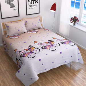 Butterfly - The Symbol of Joy - Glace Cotton Bedsheet