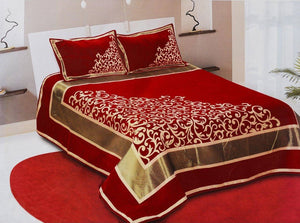 Work of Art Royal Heavy Chenille Bedcovers - Maroon
