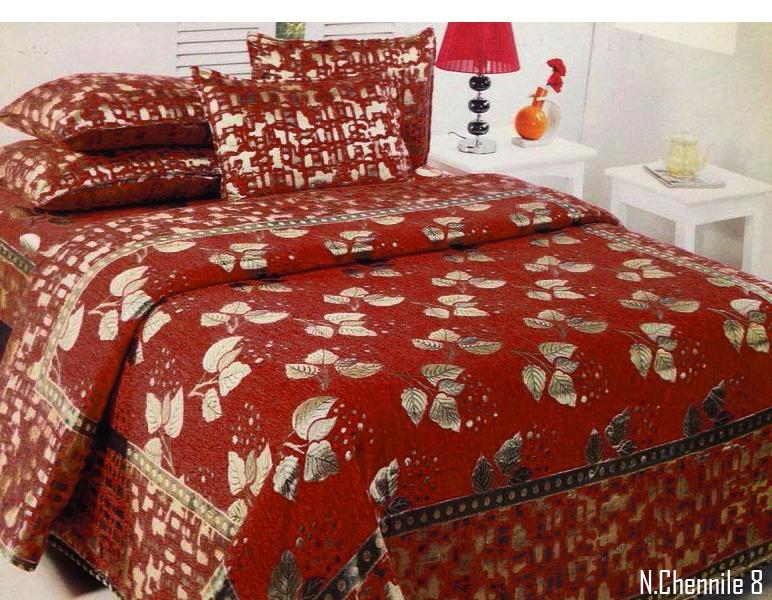 Budding Leaves Chenille Bedcovers - B