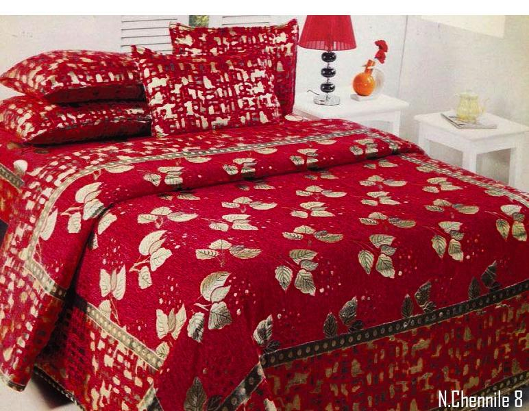 Budding Leaves Chenille Bedcovers - E