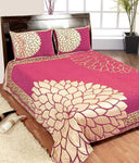 Mirror Leaf Pattern Heavy Chenille Bedcovers - Pink