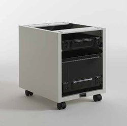 TECSAL semi-assembled 1 drawer + 1 file drawer pedestal kit to be equipped with wood fronts and tops.