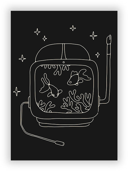 Astronaut and Fishes
