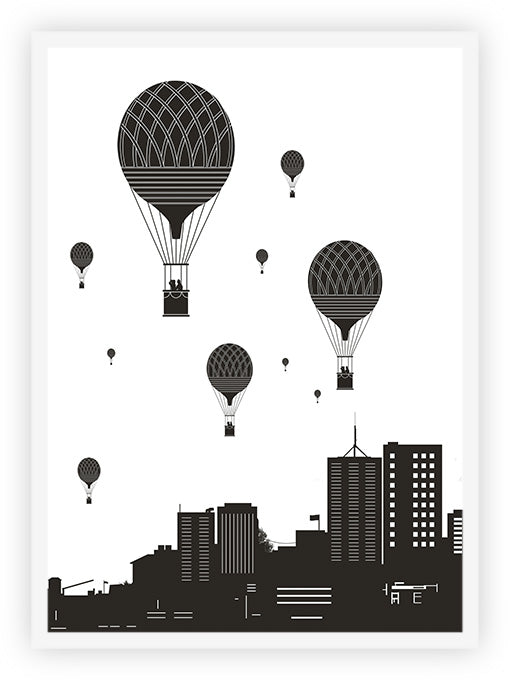 Balloons and the city