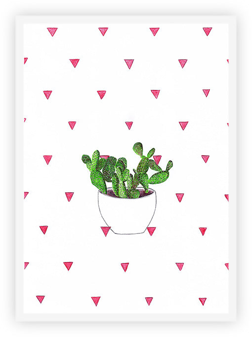 Cactus and Pink Triangles