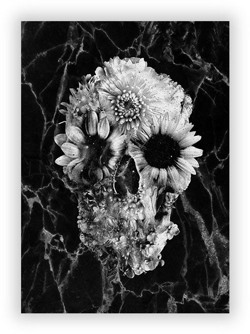 Floral Skull 2 Marble