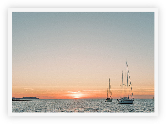 Ibiza Sailing Boats During Sunset