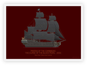 Pirates of the Caribbean (2003) - Black Pearl Galleon East Indiaman