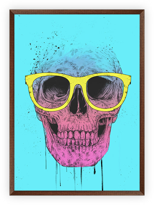 Pop Art Skull With Glasses
