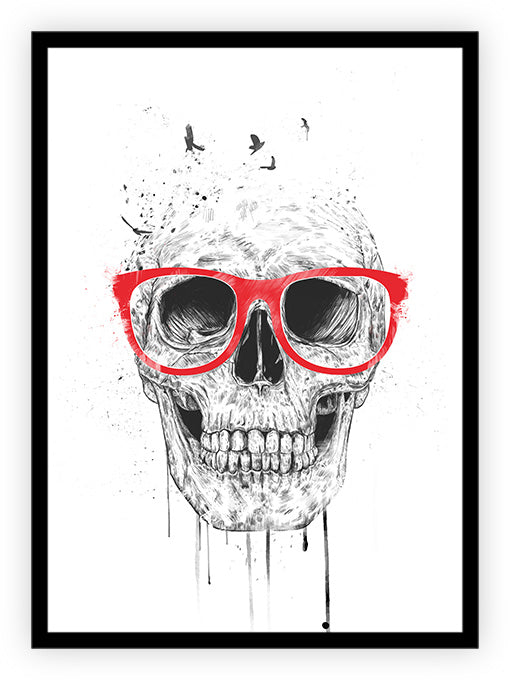 Skull with Red Glasses