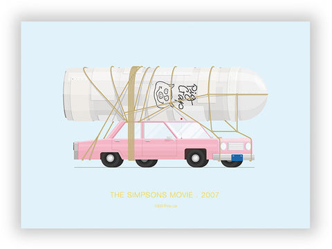 The Simpsons Movie (2007) - 1989 Pink Car
