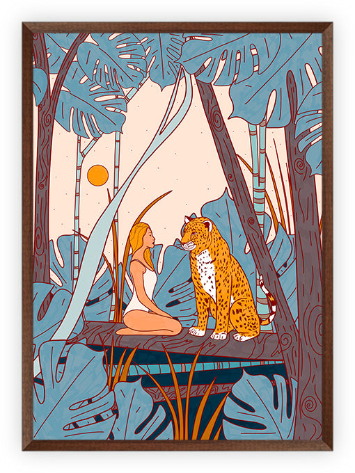 The girl and the leopard