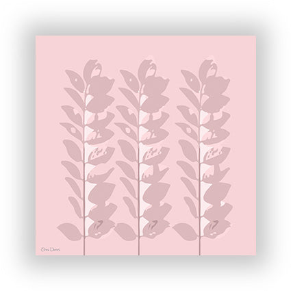 The three pink leaves