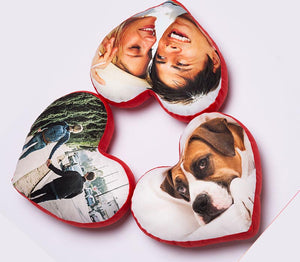 Personalized Heart Shaped Pillows creative DIY | photogiftsideas