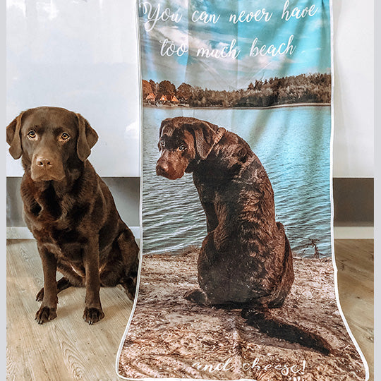 custom photo beach towel