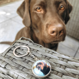 personalized photo keychain mini dog