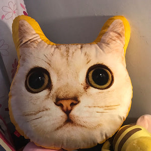 Custom cat face photo shaped pillow-photogiftsideas