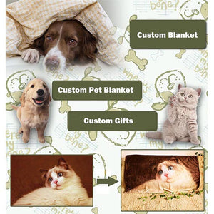 custom blanket dog photo cat photo | photogiftsideas