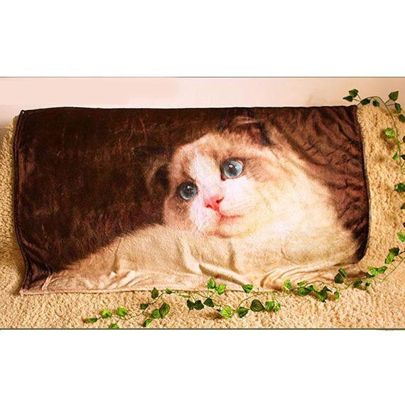 Personalized Photo Blanket Pet Picture on Blankets