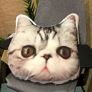 Custom Cat Face on Pillow shaped pillow-photogiftsideas