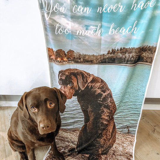 personalized photo beach towel