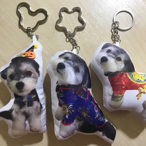 custom dog shaped pillow keychain-photogiftsideas