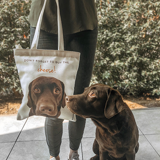 personalized dog photo tote bag unique gift