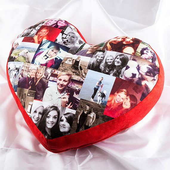 Custom Photo Heart Shaped Cushion | photogiftsideas
