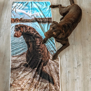 dog photo beach towel kid