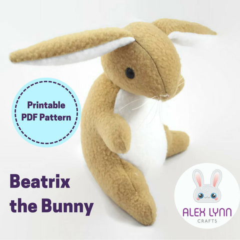 Beatrix the Bunny Plush Sewing Pattern PDF