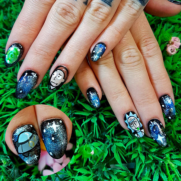 6 awesome nail designs inspired by rick urrrrrp and morty molly 6 awesome nail designs inspired by rick urrrrrp and morty prinsesfo Choice Image