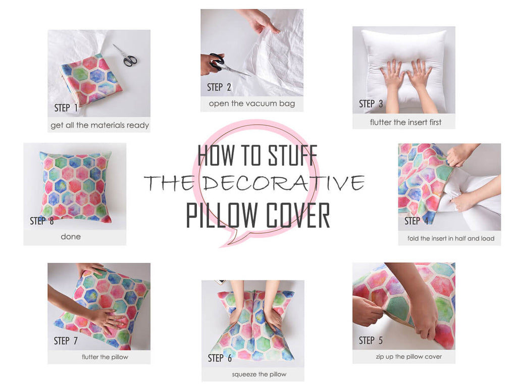 How to Stuff the Decorative Pillow Cover