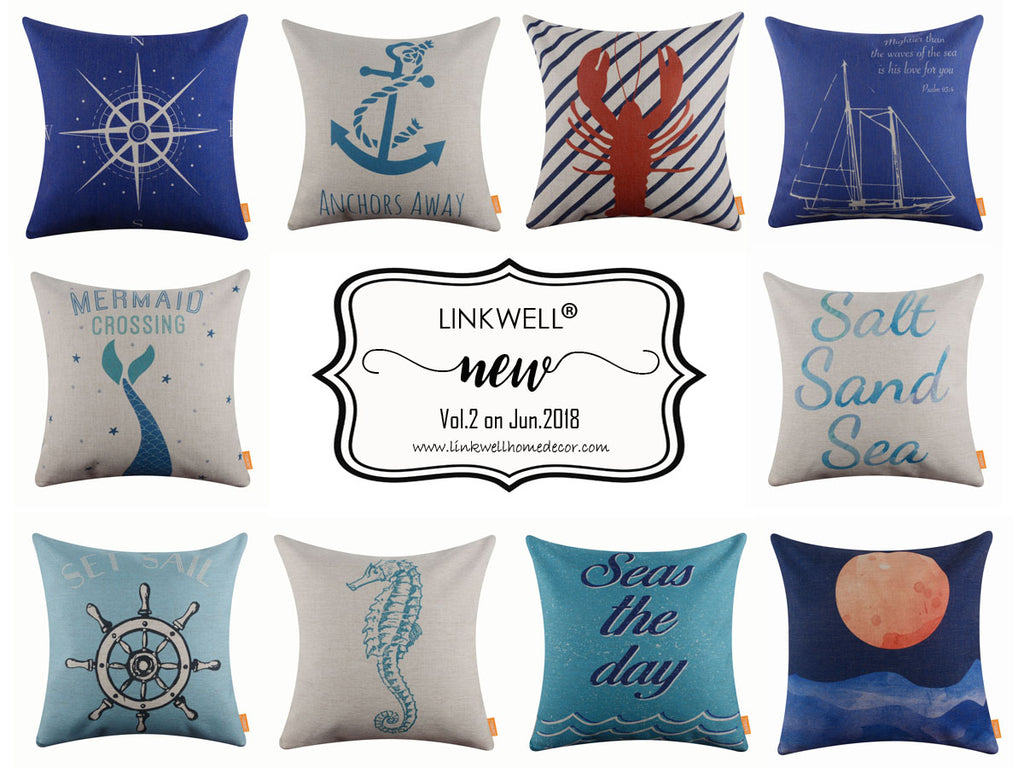 New Published Sea Life Series Linkwell Pillow Cover in June 2018