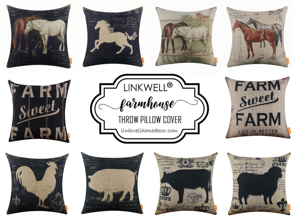 Linkwell Farmhouse Throw Pillow Cover