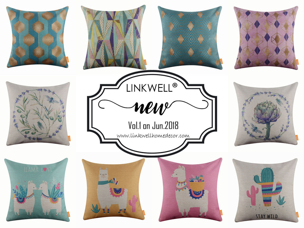 New Arrival on Jun.2018 for Linkwell Pillow Cover