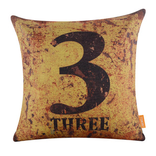 Number Pillow Cover