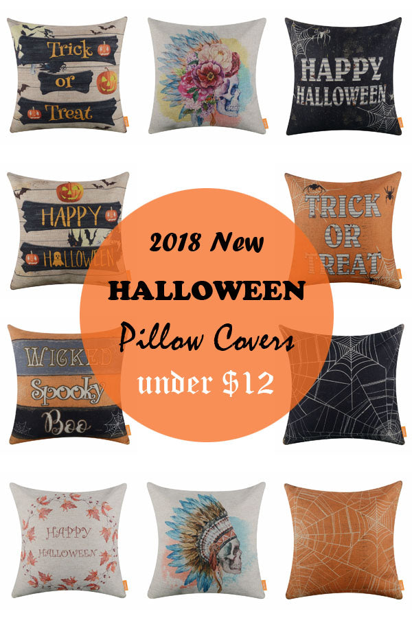 2018 NEW HALLOWEEN PILLOW COVERS UNDER 12