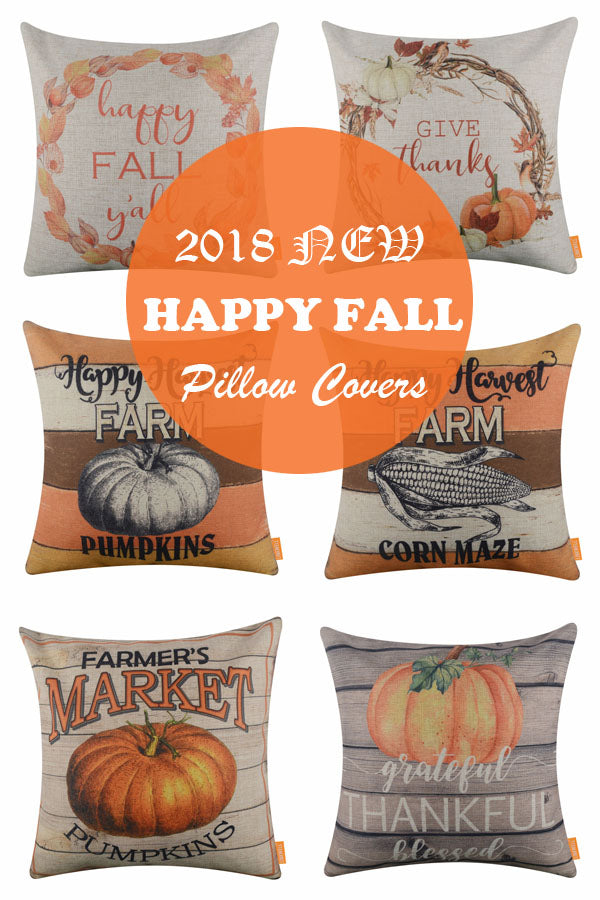 2018 new happy fall pillow covers