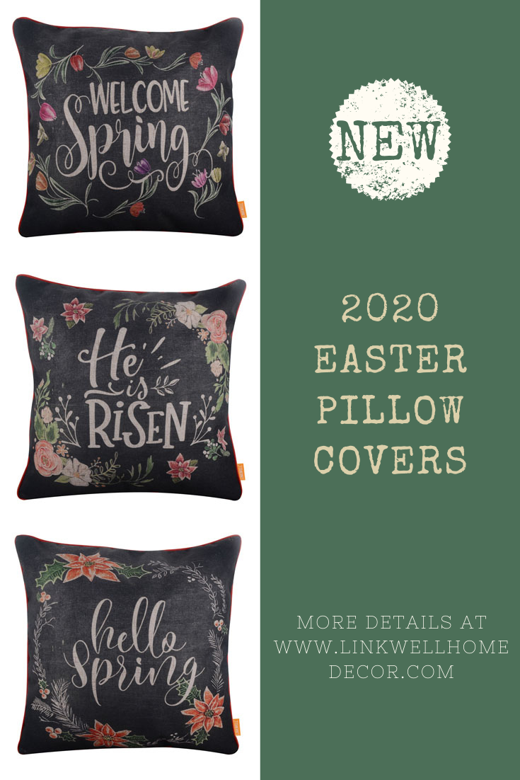 2020 Easter pillow covers