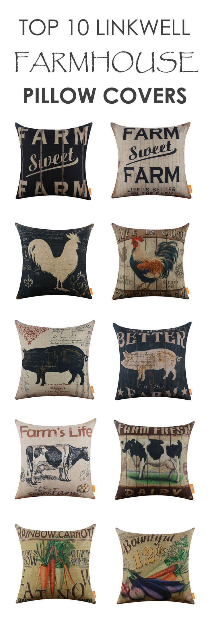 top 10 linkwell farmhouse pillow cover