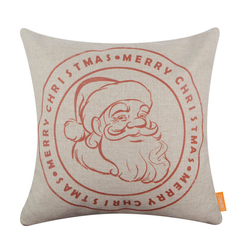2020 Red Merry Christmas Santa Claus Cushion Cover