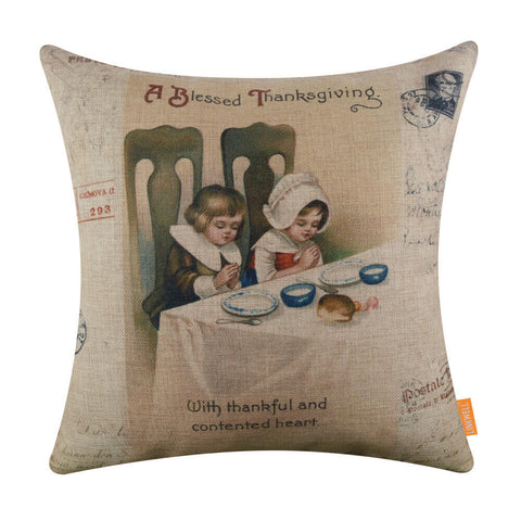 Image of A blessed Thankgiving Pillow Cover